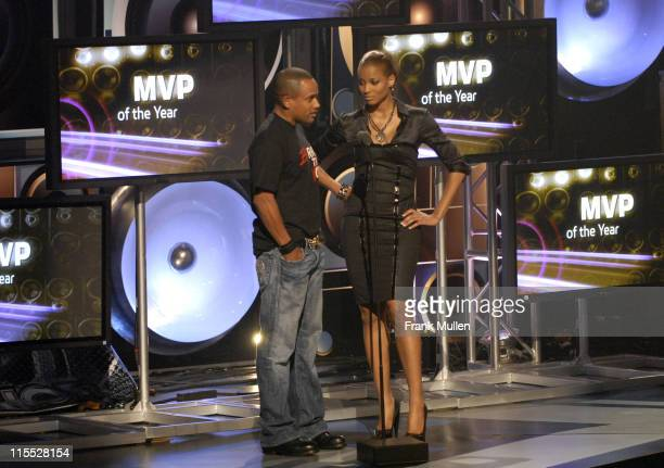 Actor Hill Harper and singer Ciara present the Hip Hop MVP of the Year award during the BET Hip Hop Awards 2007 at the Atlanta Civic Center on...