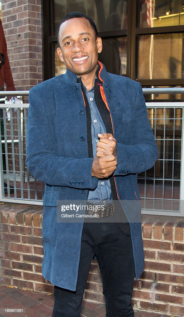 Actor Hill Harper visits Fox 29's 'Good Day' at FOX 29 Studio to promote the movie '1982' on October 25 2013 in Philadelphia Pennsylvania
