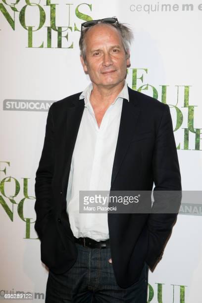 Actor Hippolyte Girardot attends 'Ce qui Nous Lie' Premiere on June 12 2017 in Paris France