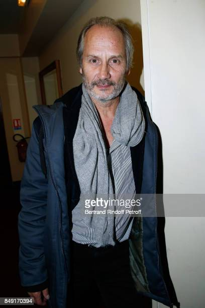 Actor Hippolyte Girardot attends 'La vraie vie' Theater Play at Theatre Edouard VII on September 18 2017 in Paris France