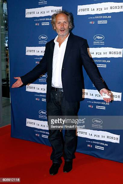 Actor Hippolyte Girardot attends the 'Juste la fin du Monde' Paris Premiere at Mk2 Bibliotheque on September 15 2016 in Paris France