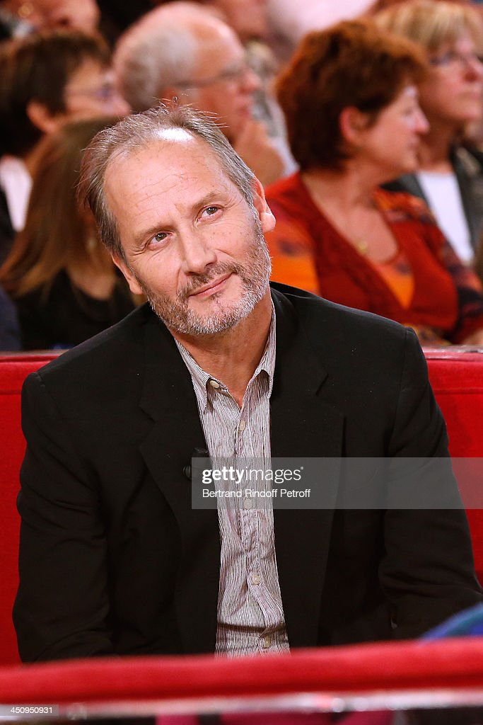 Actor Hippolyte Girardot attends the 'Vivement Dimanche' French TV Show, held at Pavillon Gabriel on November 20, 2013 in Paris, France.