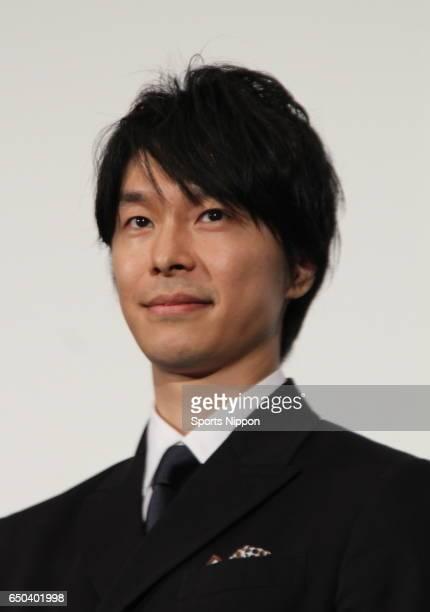 Actor Hiroki Hasegawa attends opening day stage greeting of film 'Jigoku de naze warui' on September 28 2013 in Tokyo Japan