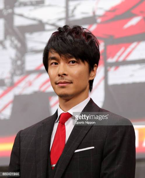 Actor Hiroki Hasegawa attends preview screening of film 'Attack on Titan' on July 21 2015 in Tokyo Japan