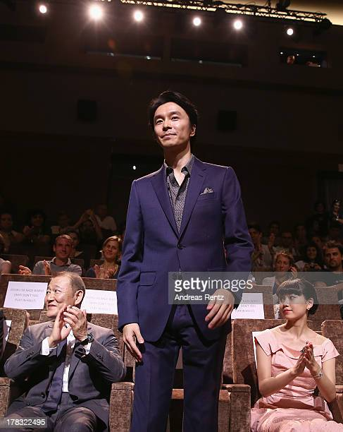 Actor Hiroki Hasegawa attends the 'Why Don't You Play In Hell' Premiere during the 70th Venice International Film Festival on August 29 2013 in...