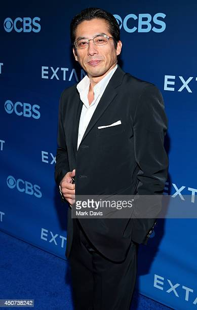 Actor Hiroyuki Sanada attends Premiere Of CBS Television Studios Amblin Television's 'Extant' at California Science Center on June 16 2014 in Los...