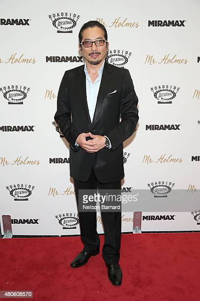 Actor Hiroyuki Sanada attends the New York premiere of 'Mr Holmes' at Museum of Modern Art on July 13 2015 in New York City