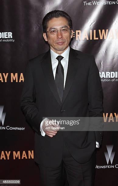 Actor Hiroyuki Sanada attends the 'Railway Man' premiere on April 7 2014 in New York City