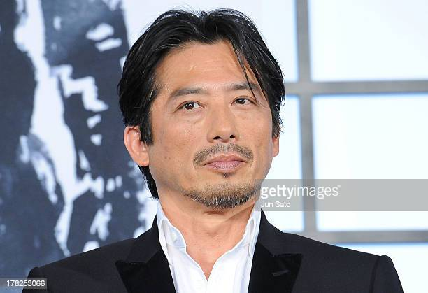 Actor Hiroyuki Sanada attends 'The Wolverine' Japan Premiere at the Roppongi Hills on August 28 2013 in Tokyo Japan