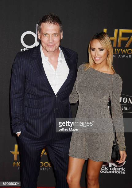 Actor Holt McCallany and guest attend the 21st Annual Hollywood Film Awards at The Beverly Hilton Hotel on November 5 2017 in Beverly Hills California