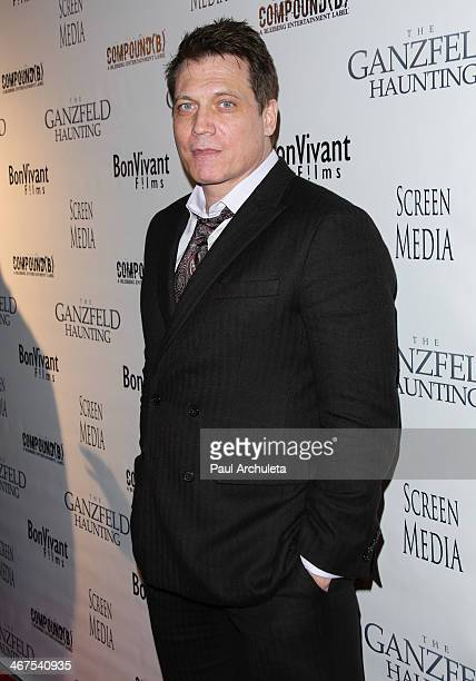 Actor Holt McCallany attends the premiere of 'Ganzfeld Haunting' at the Laemmle Theaters in Beverly Hills on February 6 2014 in Beverly Hills...