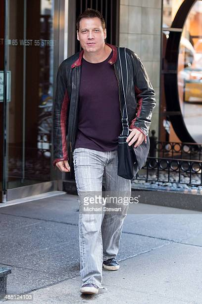 Actor Holt McCallany seen on the streets of Manhattan on April 16 2014 in New York City