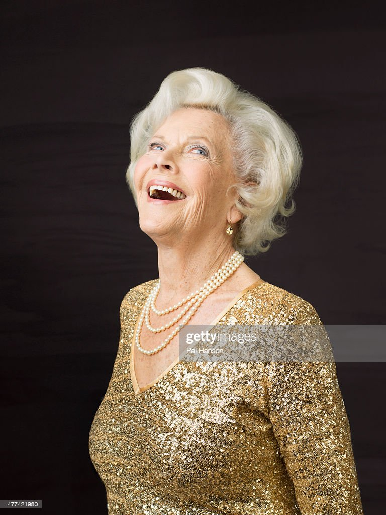 Actor Honor Blackman is photographed for Saga magazine on February 5, 2015 in London, England.