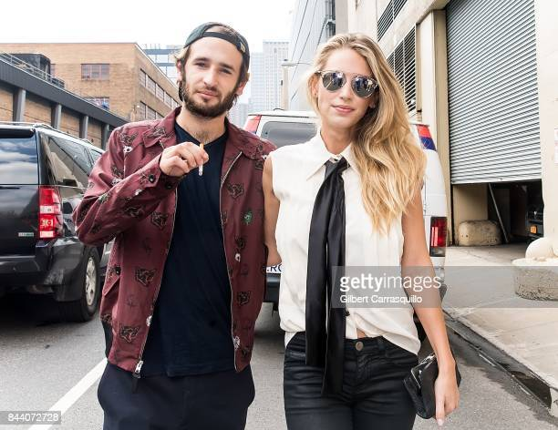 Actor Hopper Jack Penn and model Dylan Frances Penn arrive at Desigual fashion show during New York Fashion Week The Shows at Gallery 1 Skylight...