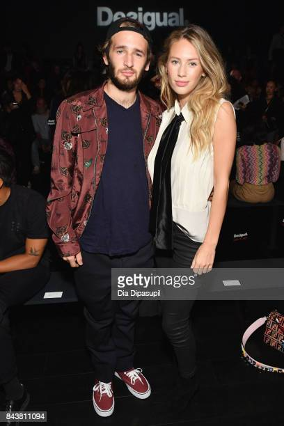 Actor Hopper Penn and Model Dylan Penn attend Desigual fashion show during New York Fashion Week The Shows at Gallery 1 Skylight Clarkson Sq on...