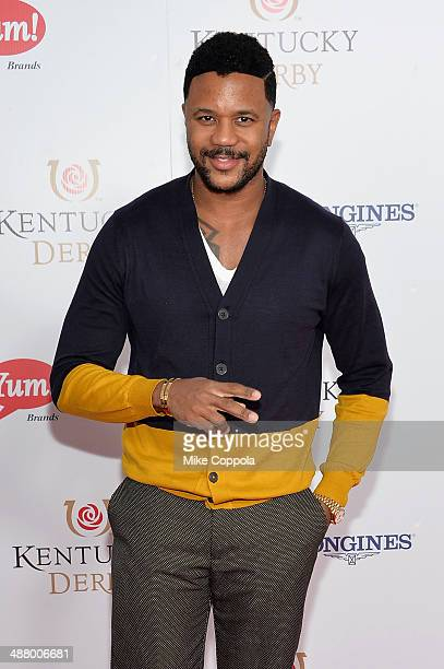 Actor Hosea Chanchez attends 140th Kentucky Derby at Churchill Downs on May 3 2014 in Louisville Kentucky