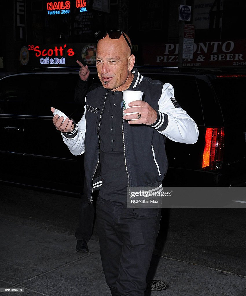 Actor <a gi-track='captionPersonalityLinkClicked' href=/galleries/search?phrase=Howie+Mandel&family=editorial&specificpeople=595760 ng-click='$event.stopPropagation()'>Howie Mandel</a> as seen on April 8, 2013 in New York City.