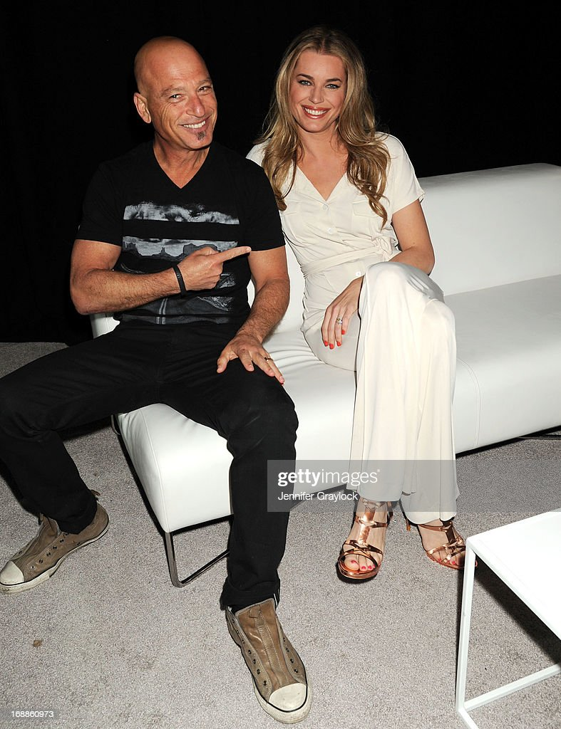 Actor Howie Mendel and Actress <a gi-track='captionPersonalityLinkClicked' href=/galleries/search?phrase=Rebecca+Romijn&family=editorial&specificpeople=202241 ng-click='$event.stopPropagation()'>Rebecca Romijn</a> attends the 2013 TNT/TBS Upfront presentation at Hammerstein Ballroom on May 15, 2013 in New York City.