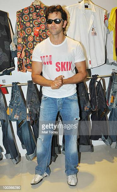 Actor Hrithik Roshan at a promotional event for the film Kites in Mumbai on May 22 2010