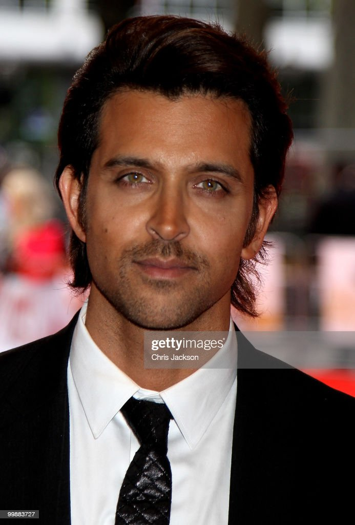 Actor <a gi-track='captionPersonalityLinkClicked' href=/galleries/search?phrase=Hrithik+Roshan&family=editorial&specificpeople=234615 ng-click='$event.stopPropagation()'>Hrithik Roshan</a> attends the European Premiere of 'Kites' at Odeon West End on May 18, 2010 in London, England.