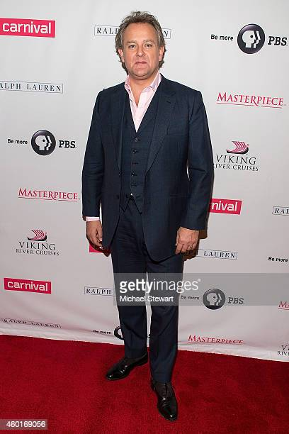 Actor Hugh Bonneville attends 'Downton Abbey' Season Five Cast Photo Call at Millenium Hotel on December 8 2014 in New York City