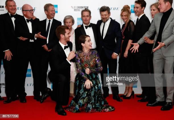 Actor Hugh Bonneville screenwriter Bill Nicholson producer Jonathan Cavendish Diana Cavendish actor Tom Hollander director Andy Serkis actors Miranda...