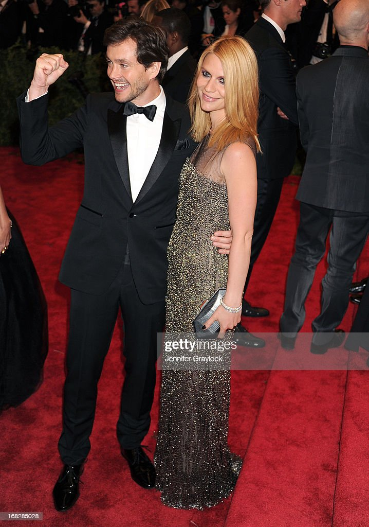 Actor Hugh Dancy and Actress Claire Danes attends the Costume Institute Gala for the 'PUNK: Chaos to Couture' exhibition at the Metropolitan Museum of Art on May 6, 2013 in New York City.