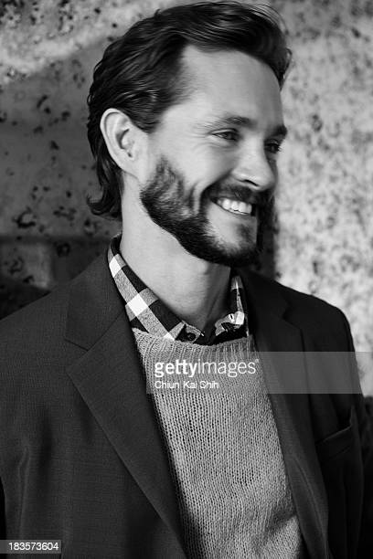 Actor Hugh Dancy is photographed for August Man on September 1 2013 in New York City