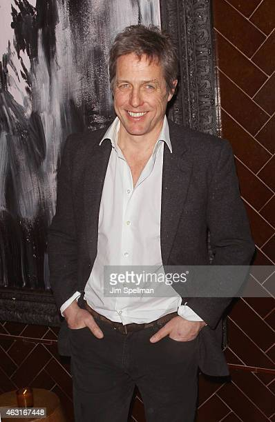 Actor Hugh Grant attends The Cinema Society and Brooks Brothers host a screening of 'The Rewrite' after party at The Jimmy at the James Hotel on...