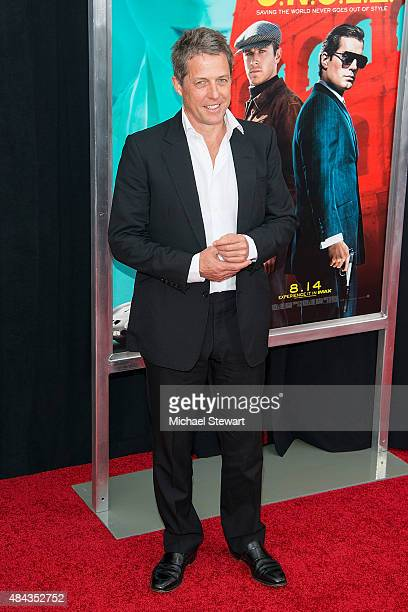 Actor Hugh Grant attends 'The Man From UNCLE' New York premiere at Ziegfeld Theater on August 10 2015 in New York City