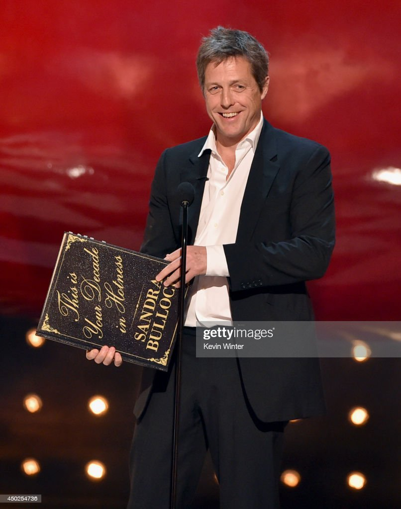 Actor Hugh Grant speaks onstage during Spike TV's 'Guys Choice 2014' at Sony Pictures Studios on June 7, 2014 in Culver City, California.