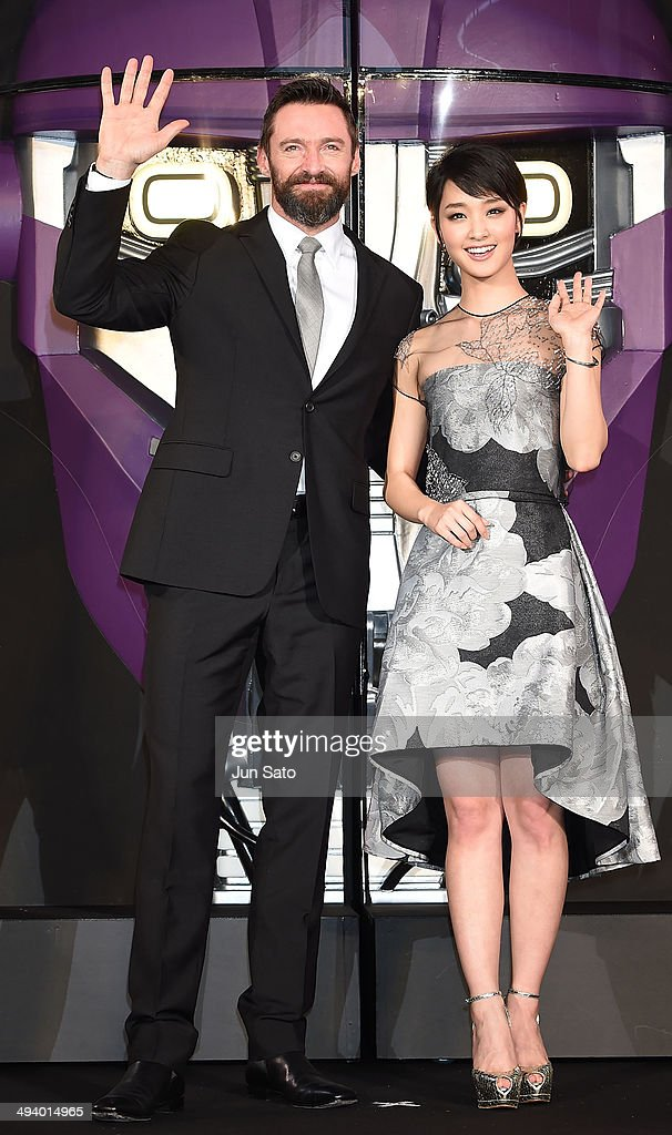 Actor <a gi-track='captionPersonalityLinkClicked' href=/galleries/search?phrase=Hugh+Jackman&family=editorial&specificpeople=202499 ng-click='$event.stopPropagation()'>Hugh Jackman</a> and actress <a gi-track='captionPersonalityLinkClicked' href=/galleries/search?phrase=Ayame+Goriki&family=editorial&specificpeople=8562737 ng-click='$event.stopPropagation()'>Ayame Goriki</a> attend 'X-Men: Days of Future Past' premiere at Roppongi Hills Arena on May 27, 2014 in Tokyo, Japan.