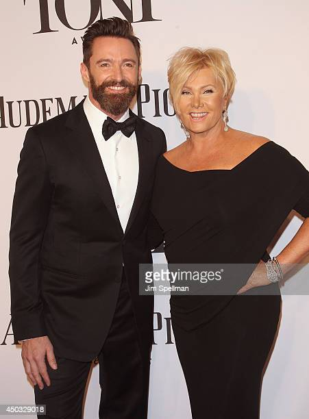 Actor Hugh Jackman and DeborraLee Furness attend American Theatre Wing's 68th Annual Tony Awards at Radio City Music Hall on June 8 2014 in New York...