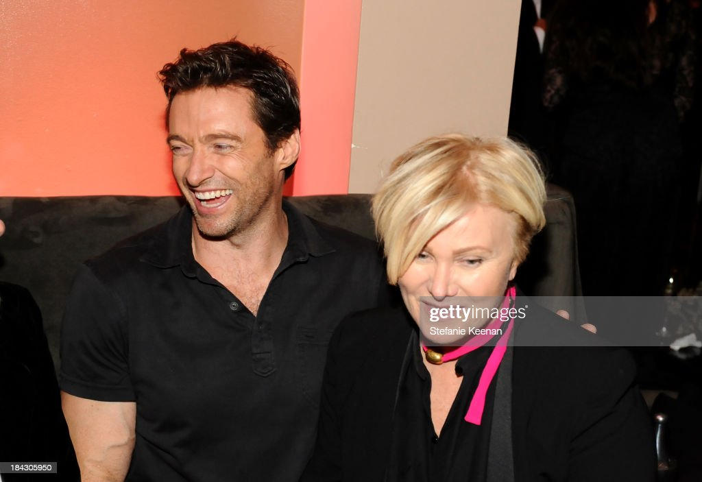 Actor Hugh Jackman and Deborra-Lee Furness attend 'Hugh Jackman... One Night Only' Benefiting MPTF at Dolby Theatre on October 12, 2013 in Hollywood, California.