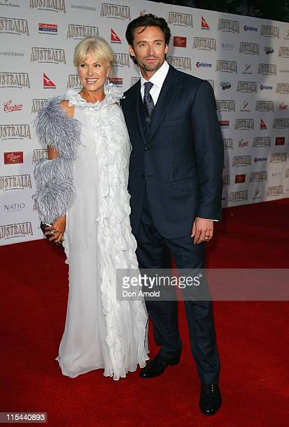 Actor Hugh Jackman and his wife DeborahLee Furness arrive for the world premiere of 'Australia' at the George Street Greater Union Cinemas on...