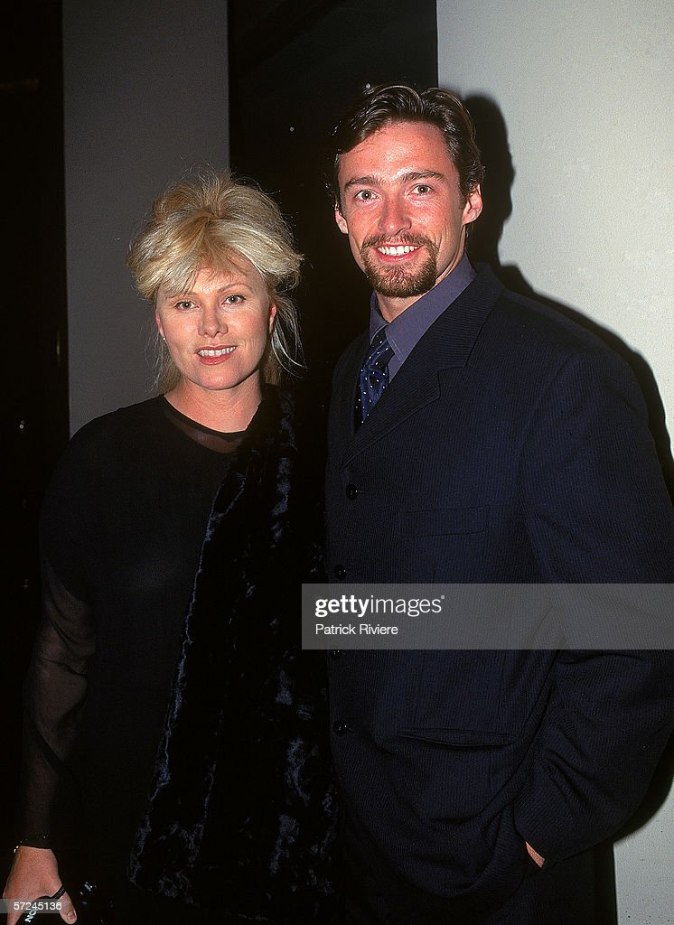Actor Hugh Jackman (R) and his wife Deborra-Lee Furness attend the Variety Club Heart Awards July 18, 1997 in Sydney, Australia.