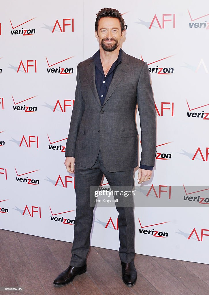 Actor <a gi-track='captionPersonalityLinkClicked' href=/galleries/search?phrase=Hugh+Jackman&family=editorial&specificpeople=202499 ng-click='$event.stopPropagation()'>Hugh Jackman</a> arrives at the 2012 AFI Awards Luncheon on January 11, 2013 in Beverly Hills, California.