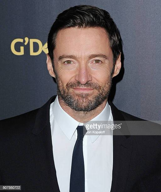 Actor Hugh Jackman arrives at the 2016 G'Day Los Angeles Gala at Vibiana on January 28 2016 in Los Angeles California