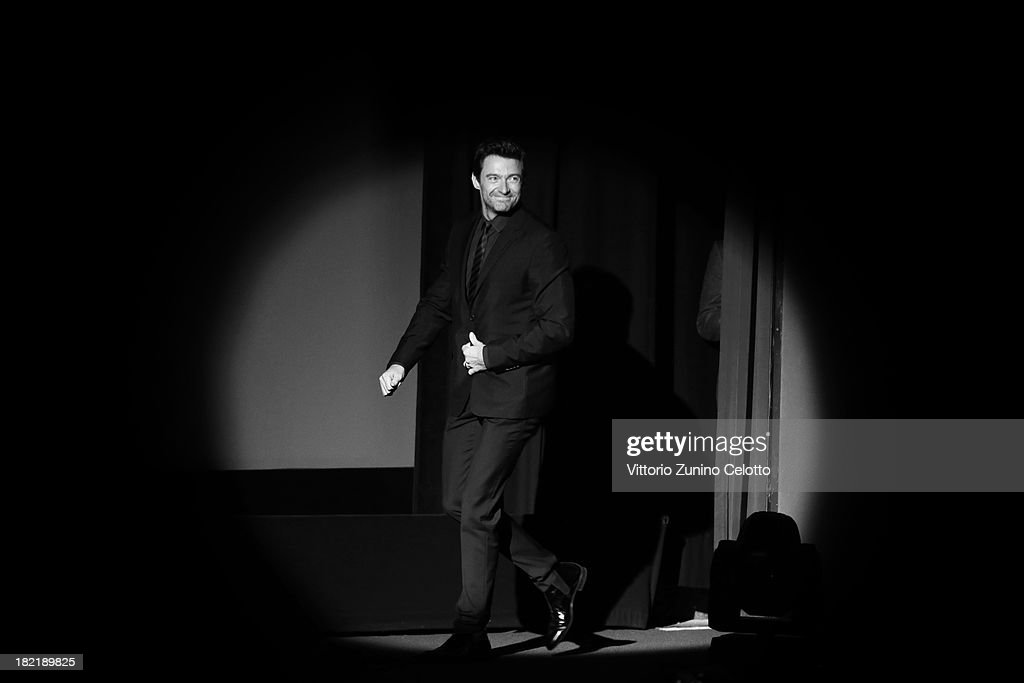 Actor <a gi-track='captionPersonalityLinkClicked' href=/galleries/search?phrase=Hugh+Jackman&family=editorial&specificpeople=202499 ng-click='$event.stopPropagation()'>Hugh Jackman</a> arrives at the Golden Icon ceremony during the Zurich Film Festival 2013on September 28, 2013 in Zurich, Switzerland.