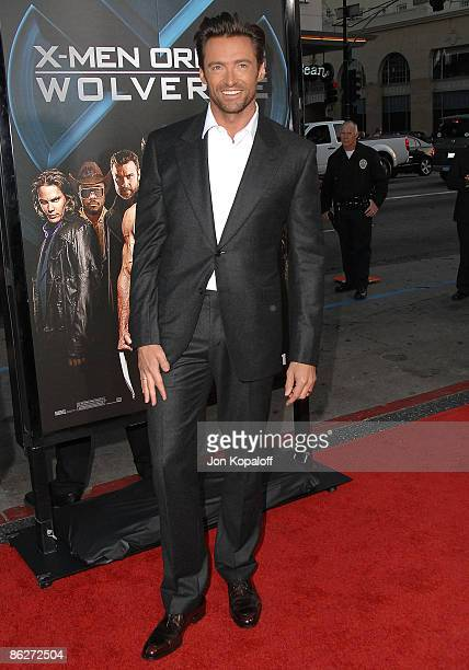 Actor Hugh Jackman arrives at the Los Angeles Industry Screening 'Xmen Origins Wolverine' at Grauman's Chinese Theater on April 28 2009 in Hollywood...