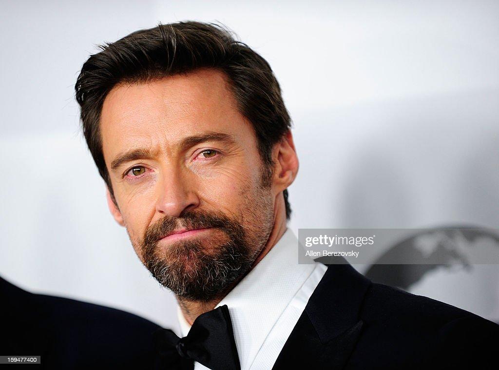 Actor <a gi-track='captionPersonalityLinkClicked' href=/galleries/search?phrase=Hugh+Jackman&family=editorial&specificpeople=202499 ng-click='$event.stopPropagation()'>Hugh Jackman</a> arrives at the NBC Universal's 70th annual Golden Globe Awards after party on January 13, 2013 in Beverly Hills, California.