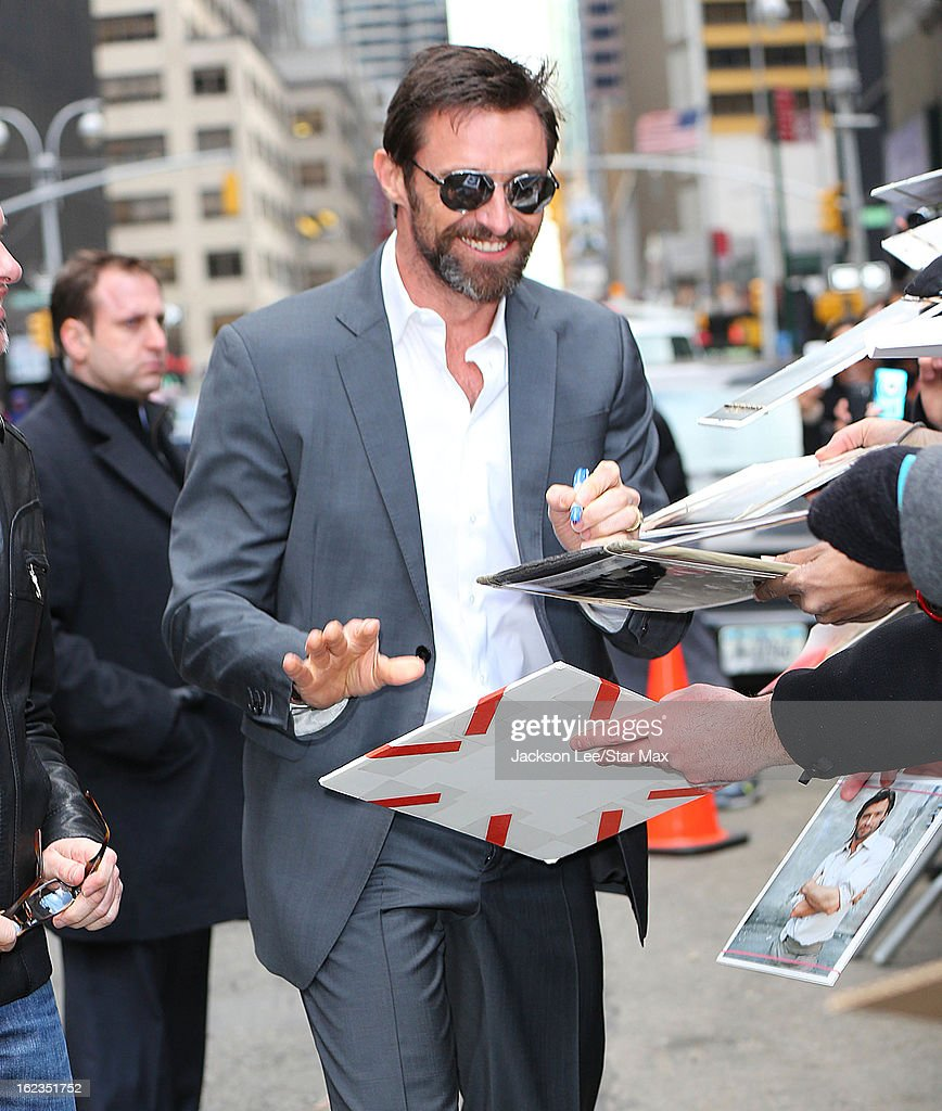 Actor <a gi-track='captionPersonalityLinkClicked' href=/galleries/search?phrase=Hugh+Jackman&family=editorial&specificpeople=202499 ng-click='$event.stopPropagation()'>Hugh Jackman</a> as seen on February 20, 2013 in New York City.