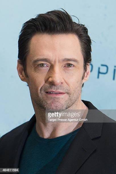 Actor Hugh Jackman attends a photo call for the film 'CHAPPIE' at Hotel De Rome on February 27 2015 in Berlin Germany