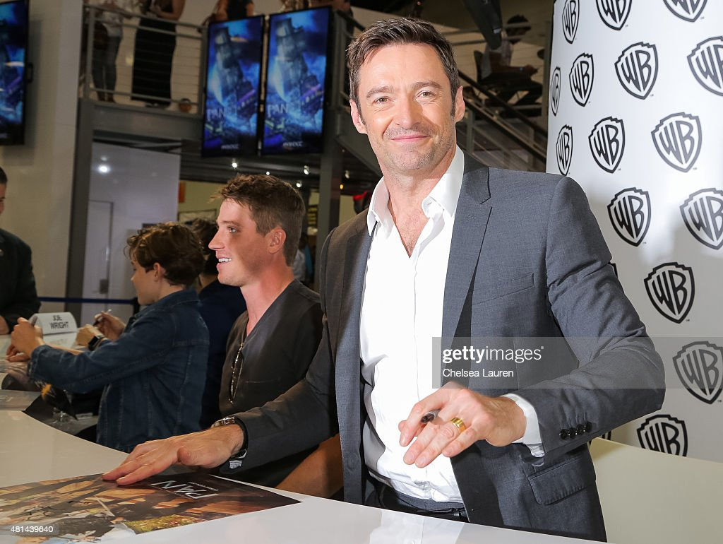 Actor Hugh Jackman attends a signing for 'Pan' at Comic-Con International on July 11, 2015 in San Diego, California.