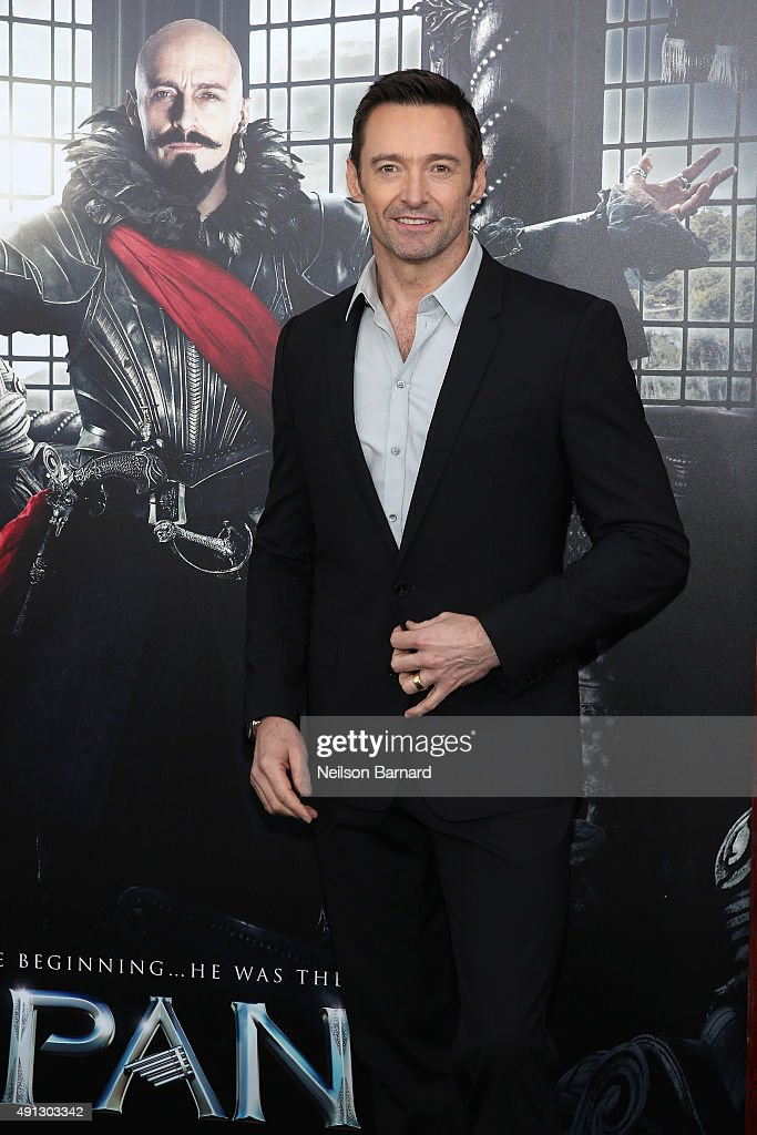 Actor <a gi-track='captionPersonalityLinkClicked' href=/galleries/search?phrase=Hugh+Jackman&family=editorial&specificpeople=202499 ng-click='$event.stopPropagation()'>Hugh Jackman</a> attends 'Pan' premiere at Ziegfeld Theater on October 4, 2015 in New York City.