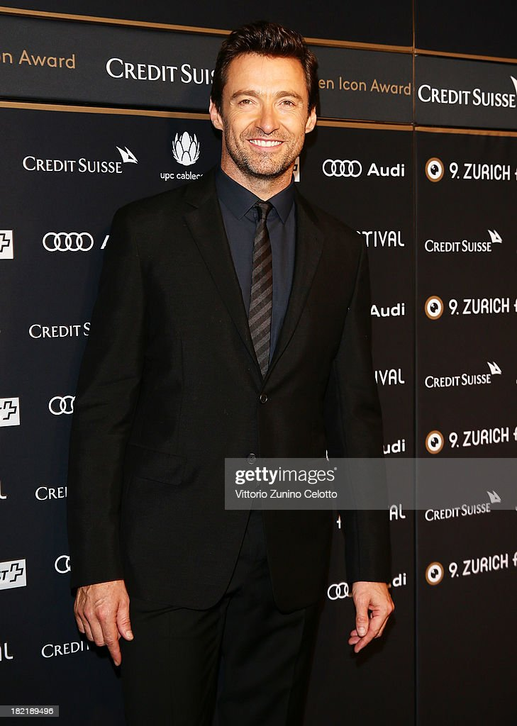 Actor <a gi-track='captionPersonalityLinkClicked' href=/galleries/search?phrase=Hugh+Jackman&family=editorial&specificpeople=202499 ng-click='$event.stopPropagation()'>Hugh Jackman</a> attends 'Prisoners' Green Carpet during the Zurich Film Festival 2013on September 28, 2013 in Zurich, Switzerland.