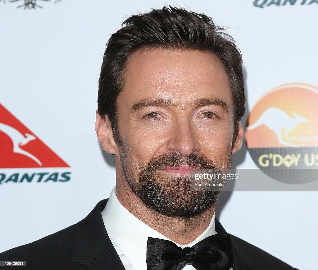 Actor Hugh Jackman attends the 2013 G'Day USA Los Angeles Black Tie Gala at JW Marriott Los Angeles at L.A. LIVE on January 12, 2013 in Los Angeles, California.