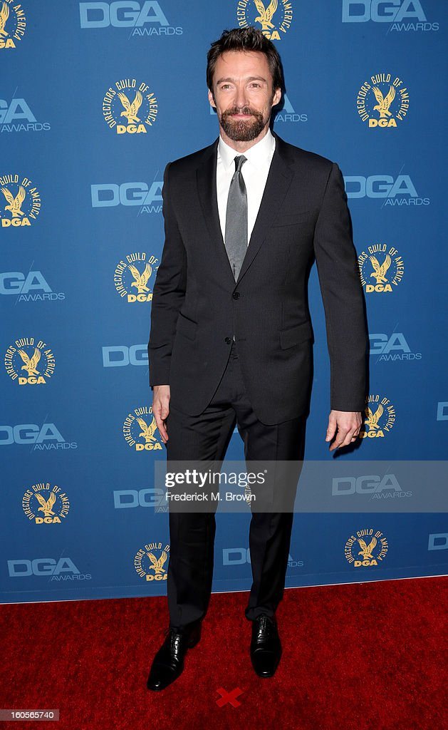 Actor Hugh Jackman attends the 65th Annual Directors Guild Of America Awards at Ray Dolby Ballroom at Hollywood & Highland on February 2, 2013 in Los Angeles, California.
