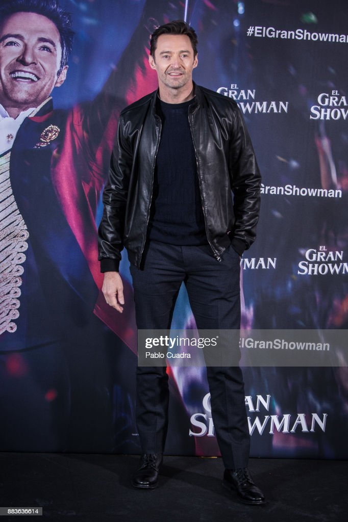 Actor Hugh Jackman attends 'The Greatest Showman' (El Gran Showman) photocall at the Villa Magna Hotel on December 1, 2017 in Madrid, Spain.