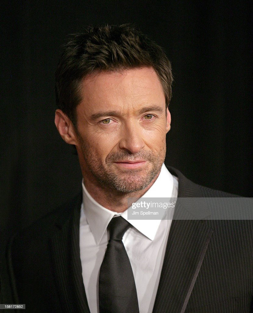 Actor <a gi-track='captionPersonalityLinkClicked' href=/galleries/search?phrase=Hugh+Jackman&family=editorial&specificpeople=202499 ng-click='$event.stopPropagation()'>Hugh Jackman</a> attends the 'Les Miserables' New York premiere at Ziegfeld Theatre on December 10, 2012 in New York City.